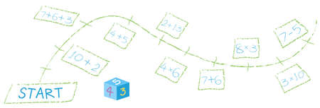 A Math Calculation Path Game illustration