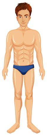 A Healthy Man Body illustration Illustration