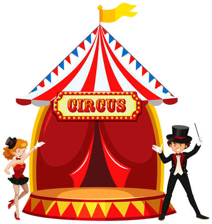 A Circus Showing Stage illustration