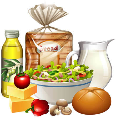 A Set of Healthy Food illustration