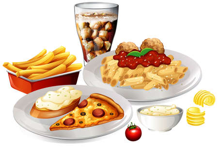 A Set of Delicious Food illustration