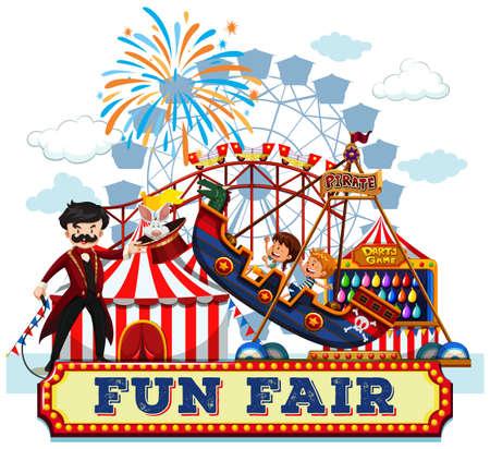Fun Fair and Rides illustration