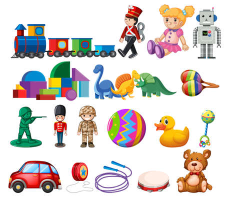 A Set of Childen Toys illustration