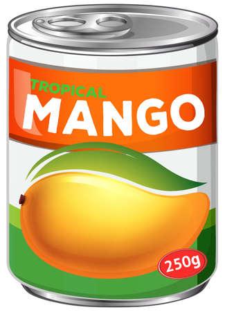 Illustration d'une canette de sirop de mangue