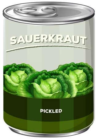 A Can of Sauerkraut illustration