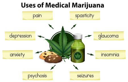 The Uses of Medical Marijuana illustration Ilustracja