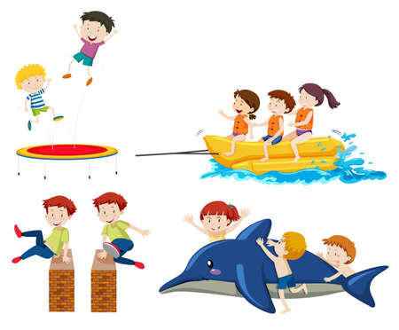 A set of outdoor activities illustration