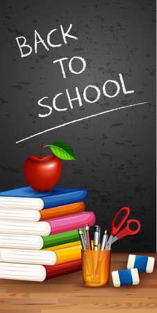Back to school scene illustration