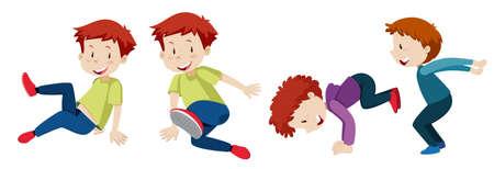 A free runner set team illustration