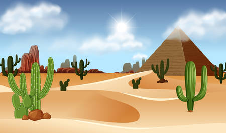 A beautiful desert template illustration