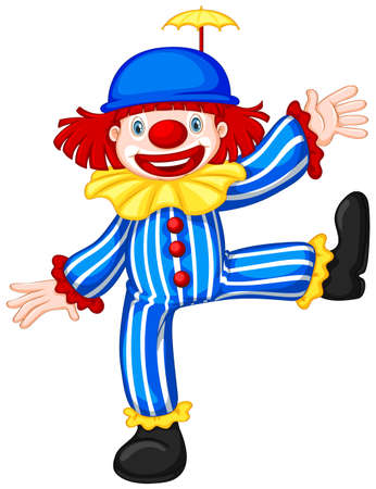 Colorful funny circus clown illustration