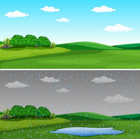 A beautiful nature landscape illustration