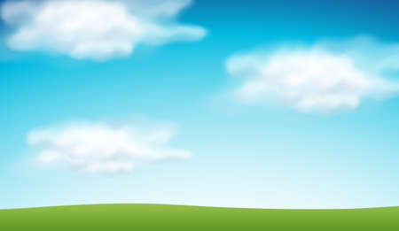 Plain blue sky background illustration