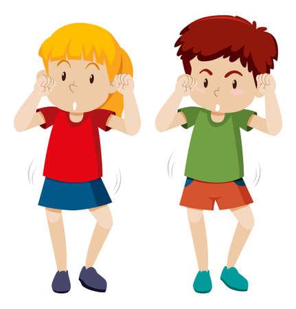 Children shmoney dance move illustration Ilustração