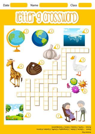 The Letter G Crossword illustration
