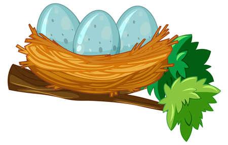 Egg on the nest illustration
