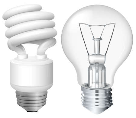 Set of light bulbs illustration