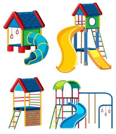 Set of playground equipment illustration Stock Vector - 109924528