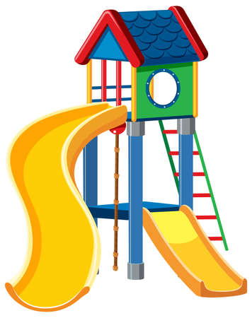Playground cubby house white background illustration