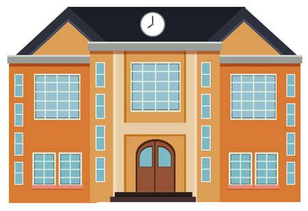 An exterior design modern building  illustration