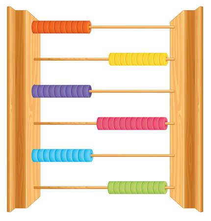 An abacus on whute background illustration Illustration