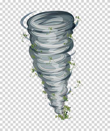 Tornado on tranparent background illustration