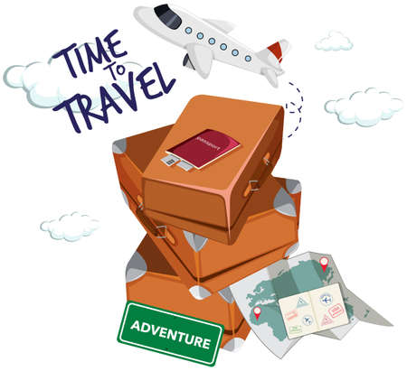 Time to travel icon illustration