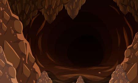 Une illustration de grotte de pierre sombre Vecteurs