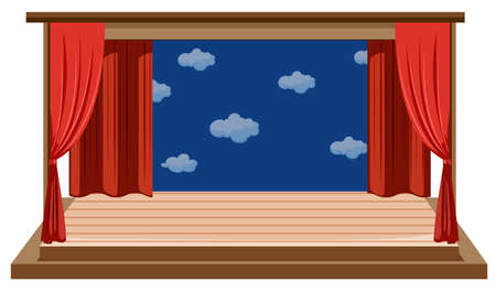 An isolated empty stage illustration