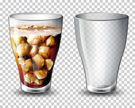 Set of carbonated drink illustration