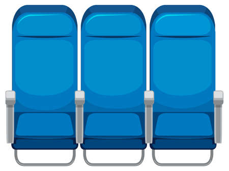 Set of airplane seat illustration