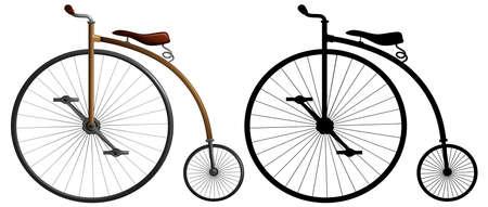 A high wheeler bike illustration Illustration