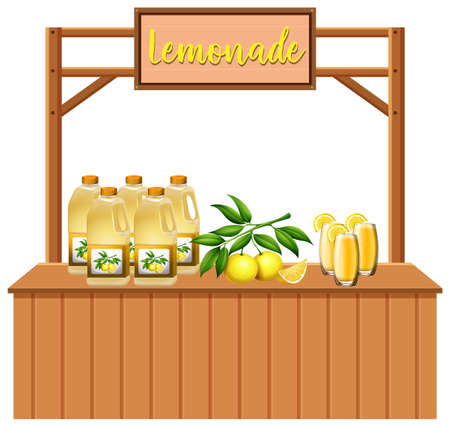 An Isolated lemonade stall illustration Ilustrace