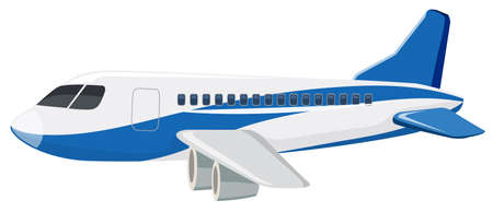 A commercial airplane on white background illustration