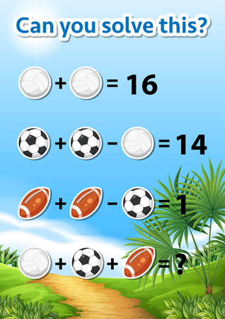 Can you solve this worksheet illustration Ilustrace