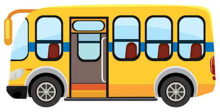 A school bus on white background illustration