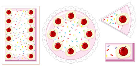 Cake in different shape illustration