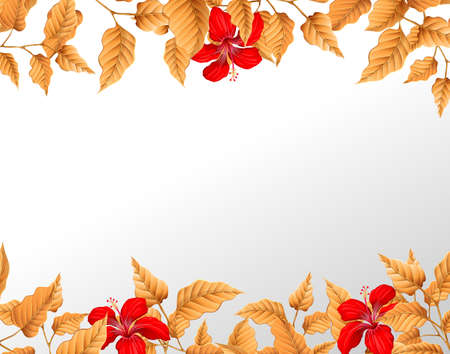 A autumn leaf border illustration