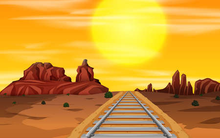 A wild west background illustration