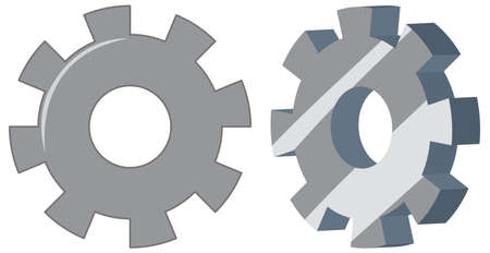 Set of engineering gears illustration