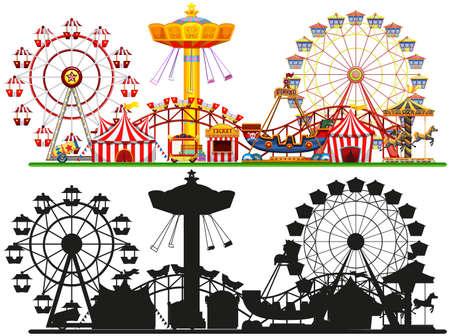 Set of circus background illustration Vektoros illusztráció