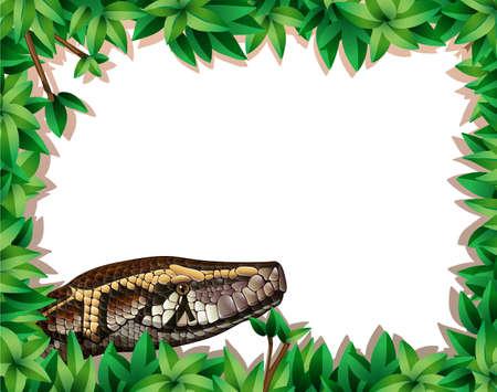 A snake in nature frame illustration