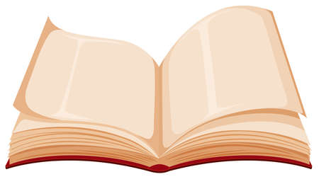Isolated book on white background illustration