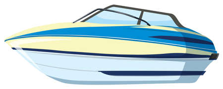 A speedboat on whitebackground illustration