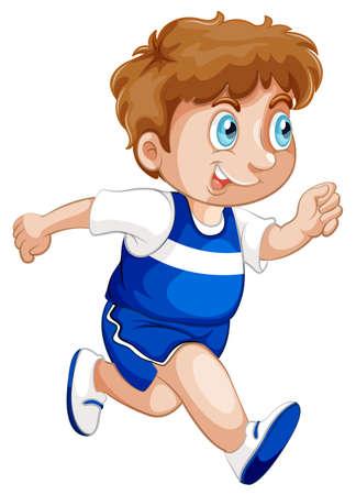 A boy running character illustration