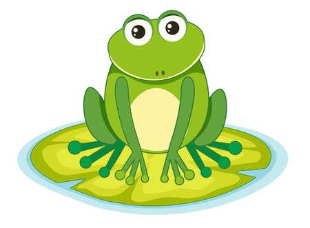 Frosch auf einer Lilypad-Illustration