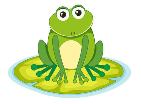 frog on a lilypad illustration