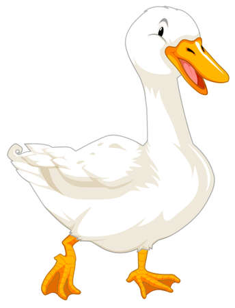 Goose on white background illustration