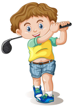 A male golfer character illustration