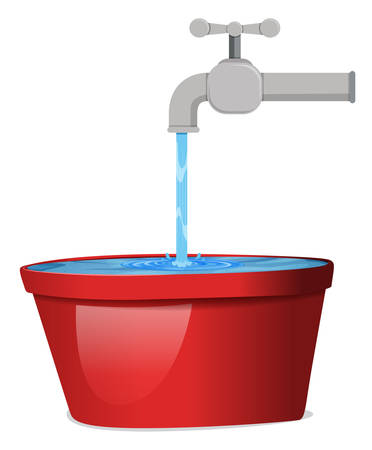 A water from the tap illustration